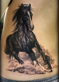 Great galloping horse tattoo